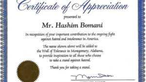 004 Template Ideas Certificates Of Appreciation Templates regarding Template For Recognition Certificate