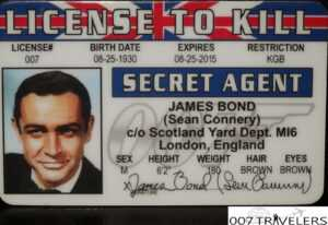 007 Travelers: 007 Item: License To Kill Id Card within Mi6 Id Card Template