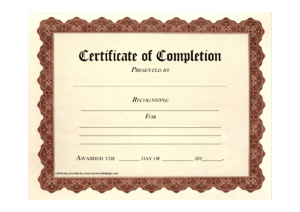 10 Certificate Of Completion Templates Free Download Images inside Certificate Of Completion Free Template Word