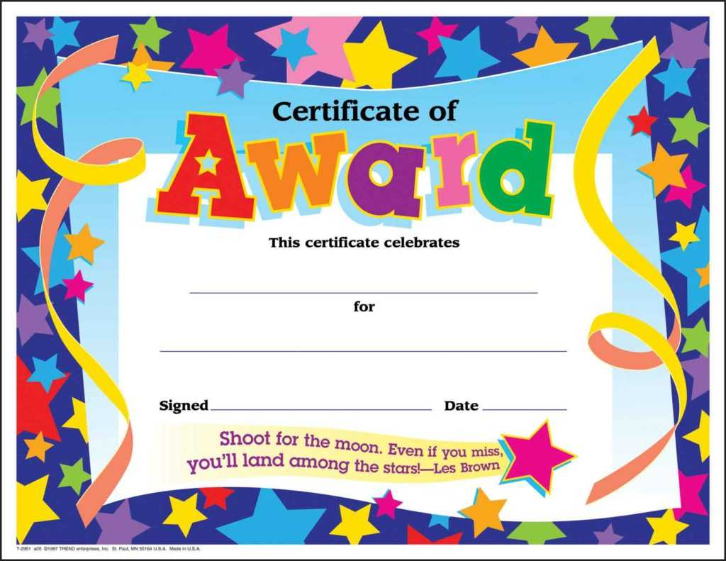10 Certificates For Kids   Certificate Templates With Regard To Classroom Certificates Templates