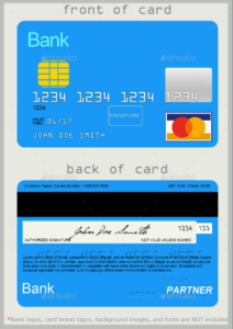 10 Credit Card Designs | Free & Premium Templates in Credit Card Template For Kids