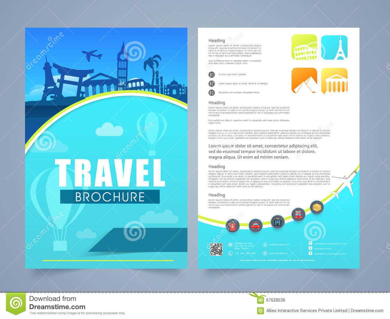 10 Example Of Travel Brochure | Business Letter Regarding Travel And Tourism Brochure Templates Free