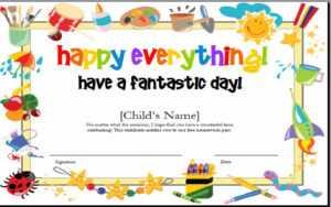10+ Kids Award Certifi Certificate Template Clipart for Free Art Certificate Templates