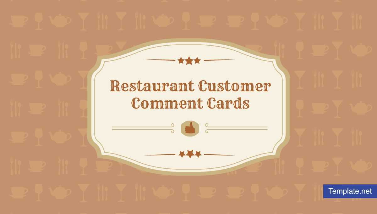 10+ Restaurant Customer Comment Card Templates & Designs Within Survey Card Template