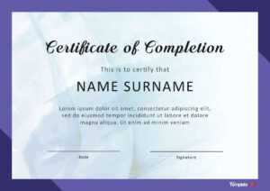10 Template For A Certificate Of Completion | Business Letter with Certification Of Completion Template