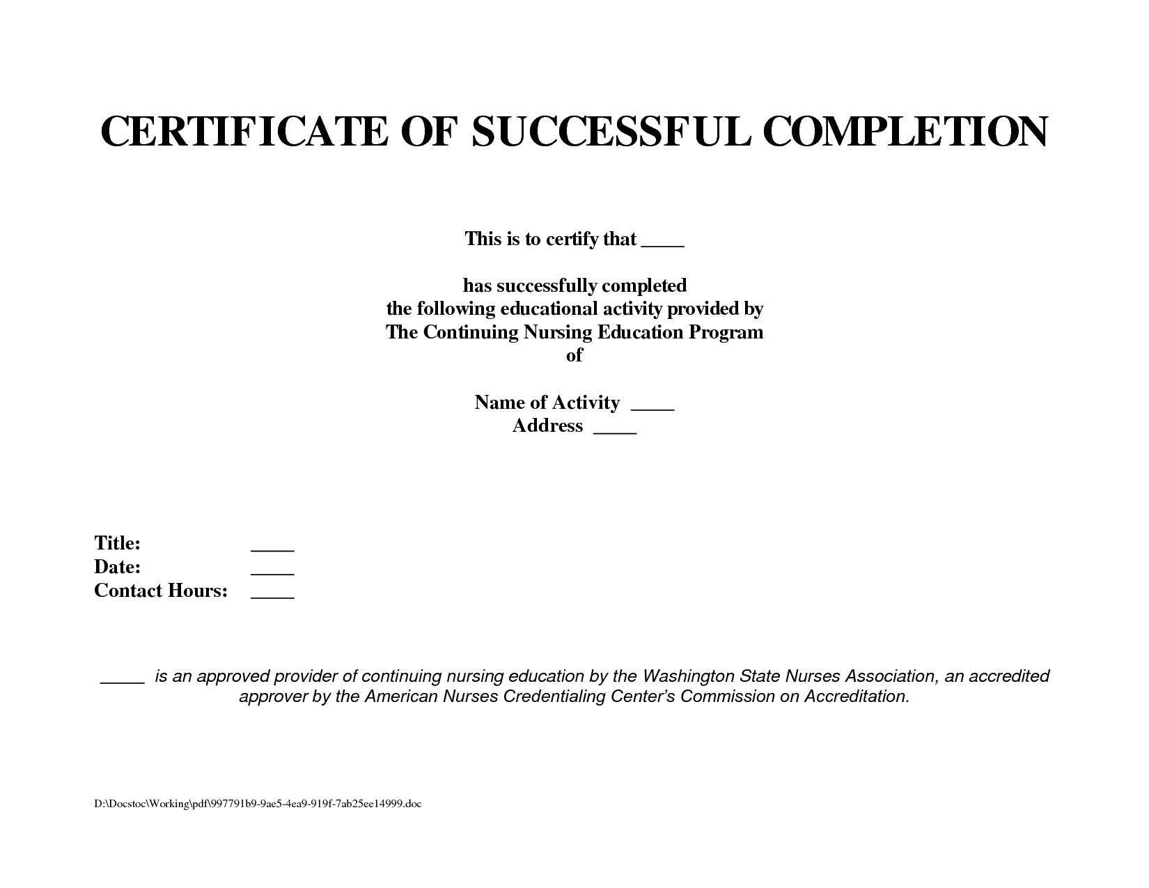 10 Template For A Certificate Of Completion | Business Letter With Construction Certificate Of Completion Template