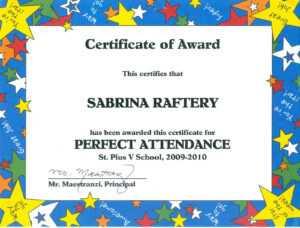 100 Attendance Certificate Template – Klauuuudia regarding Perfect Attendance Certificate Free Template