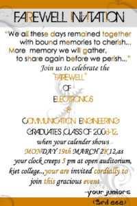 100+ [ Farewell Invitation Card Template ] | Doc 550418 throughout Farewell Invitation Card Template
