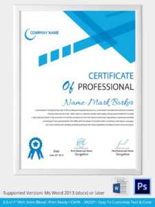 100+ [ Free Professional Certificate Templates ] | 100 inside Professional Certificate Templates For Word