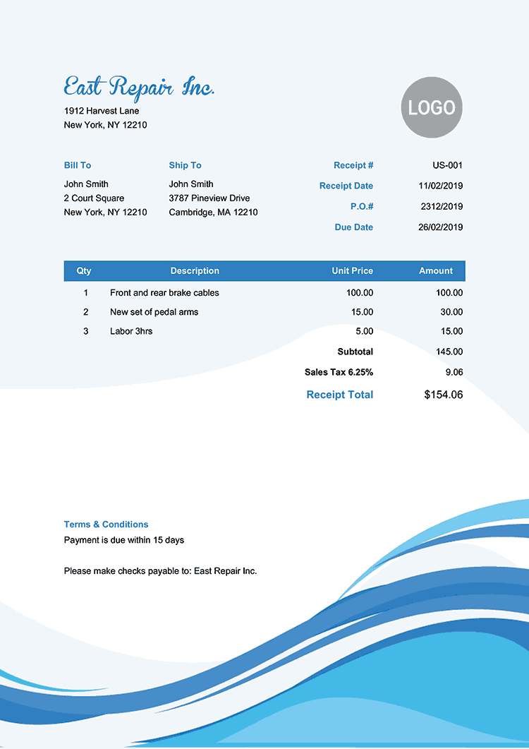100 Free Receipt Templates   Print & Email Receipts As Pdf Intended For Fake Credit Card Receipt Template