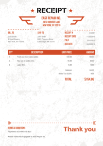 100 Free Receipt Templates   Print & Email Receipts As Pdf pertaining to Fake Credit Card Receipt Template