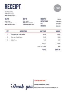 100 Free Receipt Templates   Print & Email Receipts As Pdf within Fake Credit Card Receipt Template