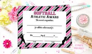100+ [ Sports Award Certificate Template ]   100 Sports throughout Softball Certificate Templates Free