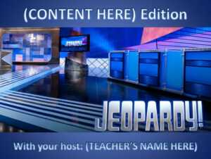 11 Best Free Jeopardy Templates For The Classroom with Jeopardy Powerpoint Template With Score