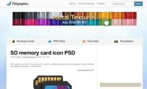 11 Best Sites To Find Free Psd Templates For Photoshop with In Memory Cards Templates