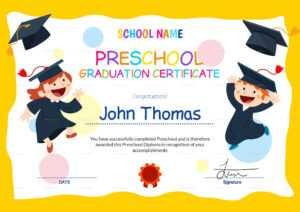11+ Preschool Certificate Templates – Pdf | Free & Premium in Leaving Certificate Template
