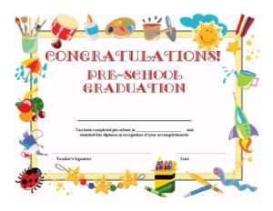 11+ Preschool Certificate Templates – Pdf | Free & Premium regarding Best Teacher Certificate Templates Free