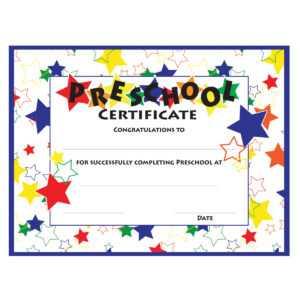 11+ Preschool Certificate Templates – Pdf | Free & Premium within Free School Certificate Templates