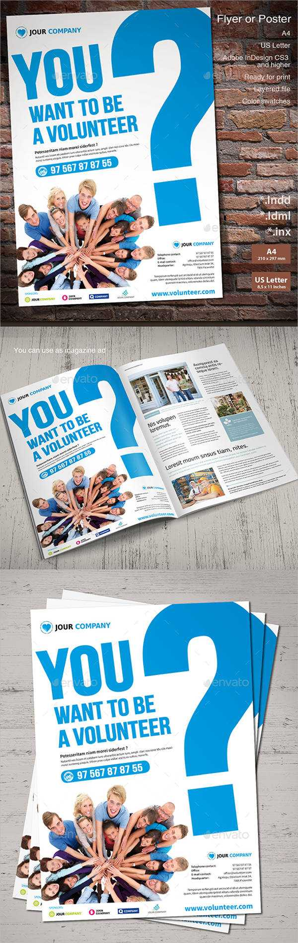 11+ Volunteer Flyers - Ms Word, Pages, Psd, Vector Eps Inside Volunteer Brochure Template