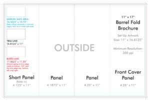 "11"" X 17"" Barrel Fold Brochure Template – U.s. Press inside Brochure 4 Fold Template"