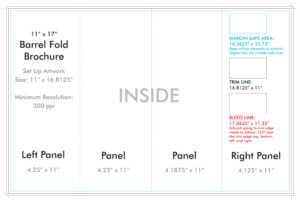 """11"""" X 17"""" Barrel Fold Brochure Template – U.s. Press regarding Brochure 4 Fold Template"""