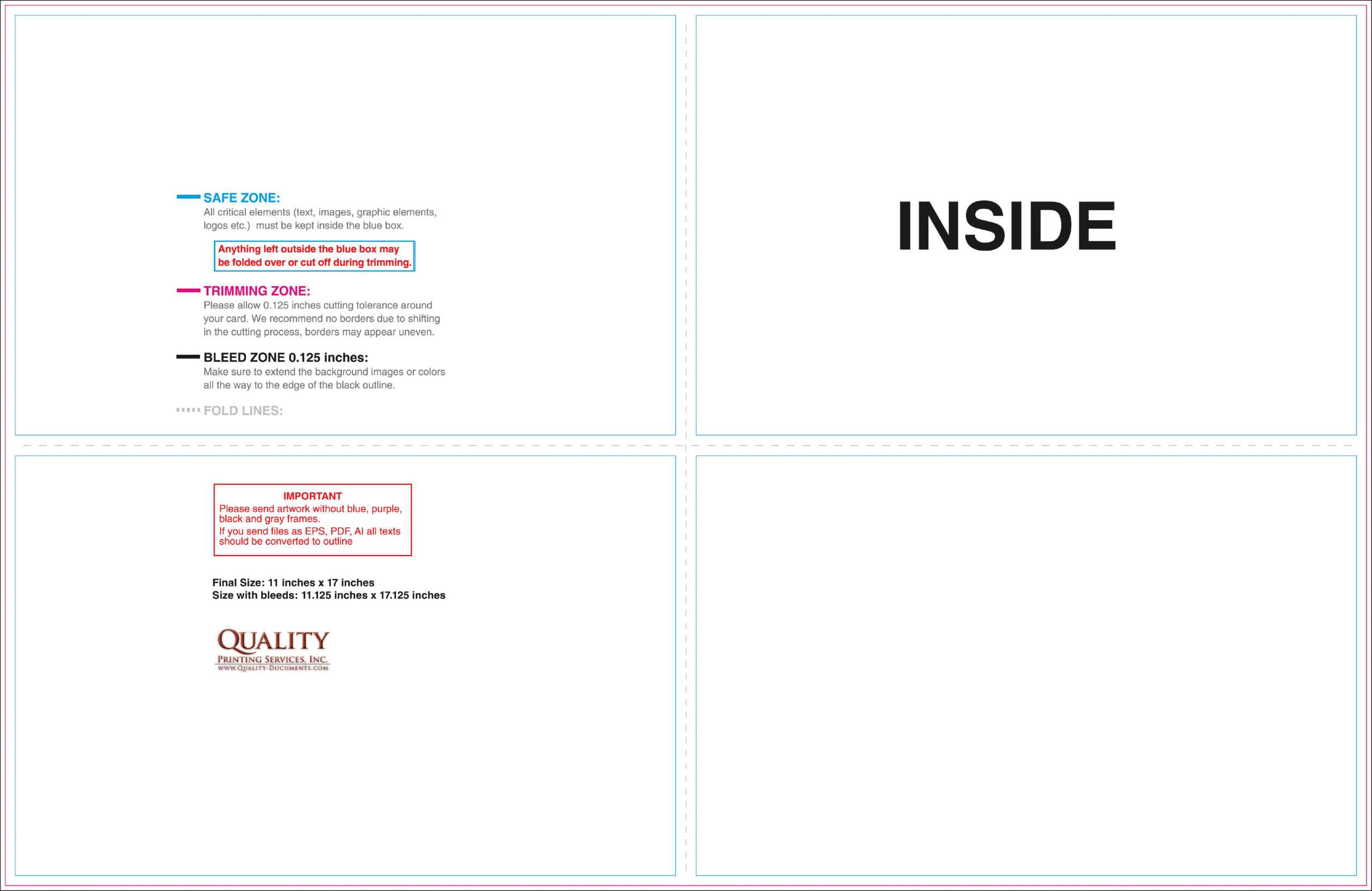 11X17 Brochure Templates With Regard To 11X17 Brochure Template