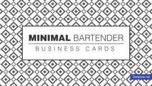 12+ Bartender Business Card Designs & Templates – Psd, Ai with regard to Staples Business Card Template Word