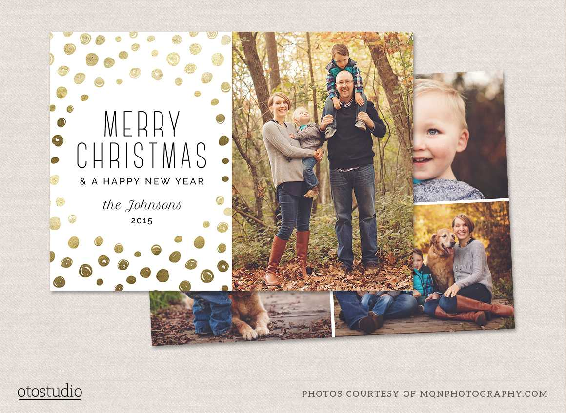 12 Christmas Card Photoshop Templates To Get You Up And Regarding Christmas Photo Card Templates Photoshop
