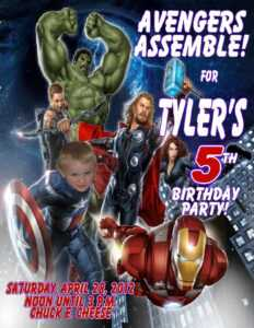 12 The Best Avengers Party Invitation Template Download With in Avengers Birthday Card Template
