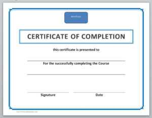 13 Free Certificate Templates For Word » Officetemplate for Free Certificate Of Completion Template Word