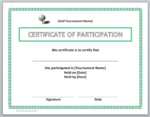 13 Free Certificate Templates For Word » Officetemplate in Certificate Of Participation Template Word