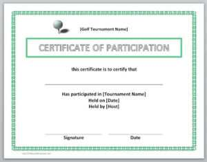 13 Free Certificate Templates For Word » Officetemplate with regard to Golf Certificate Templates For Word