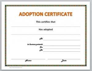 13 Free Certificate Templates For Word » Officetemplate with regard to Pet Adoption Certificate Template