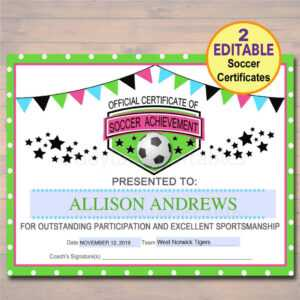 13+ Soccer Award Certificate Examples – Pdf, Psd, Ai within Soccer Certificate Templates For Word