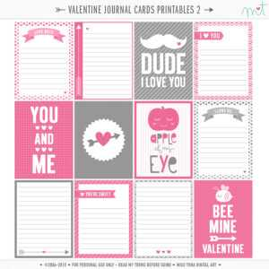 14 Days Of Free Valentine's Printables Day 6 | Misstiina with 52 Reasons Why I Love You Cards Templates Free