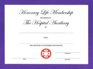 14+ Honorary Life Certificate Templates – Pdf, Docx | Free in Long Service Certificate Template Sample