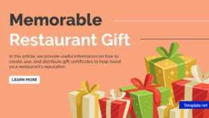 14+ Restaurant Gift Certificates   Free & Premium Templates within Publisher Gift Certificate Template