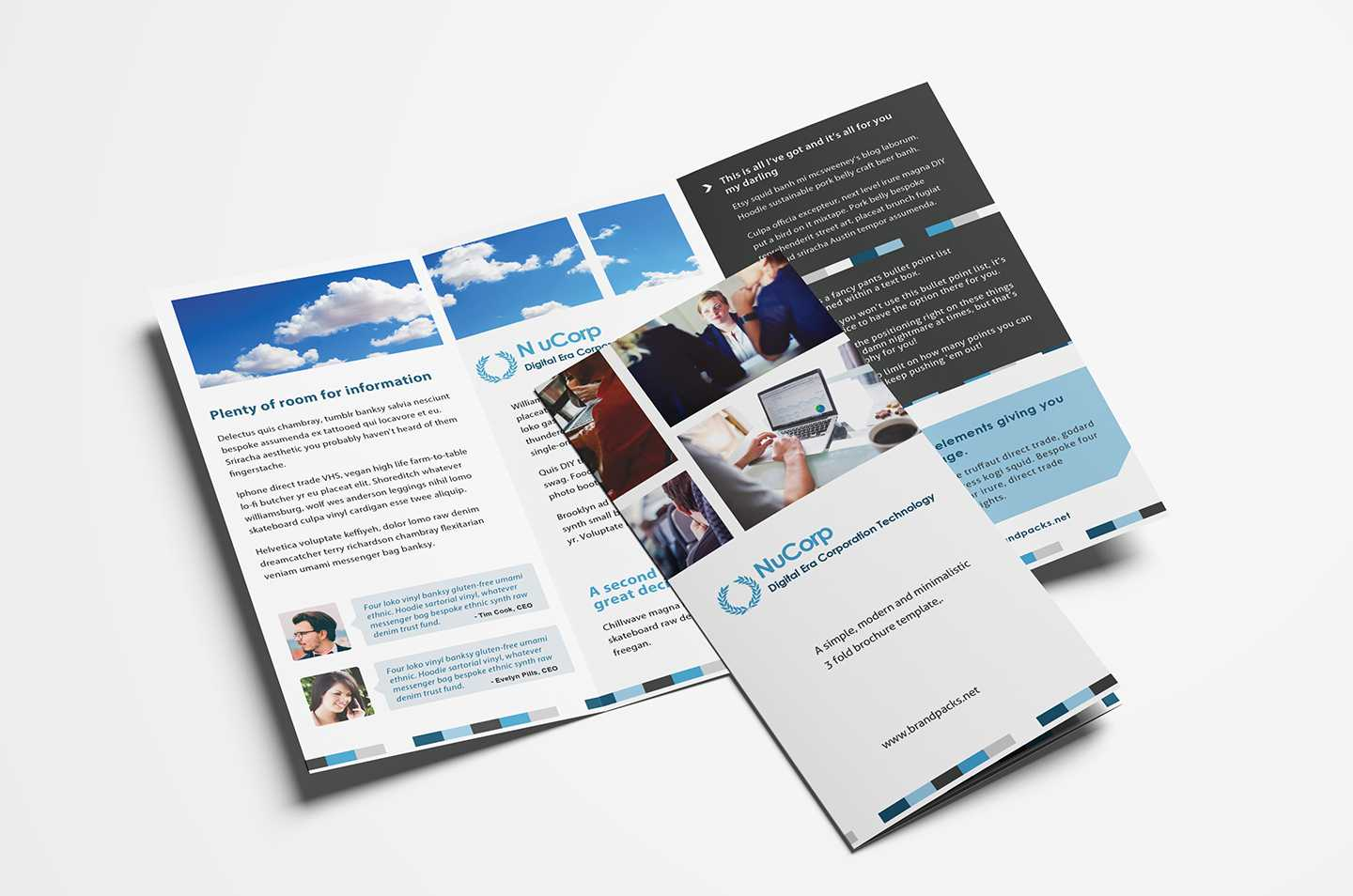 15 Free Tri Fold Brochure Templates In Psd & Vector - Brandpacks With Tri Fold Brochure Ai Template