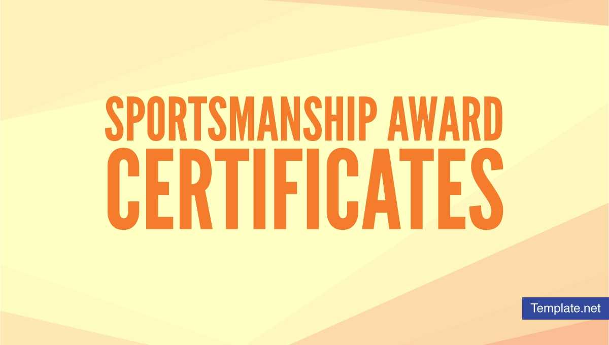 15+ Sportsmanship Award Certificate Designs & Templates With Rugby League Certificate Templates