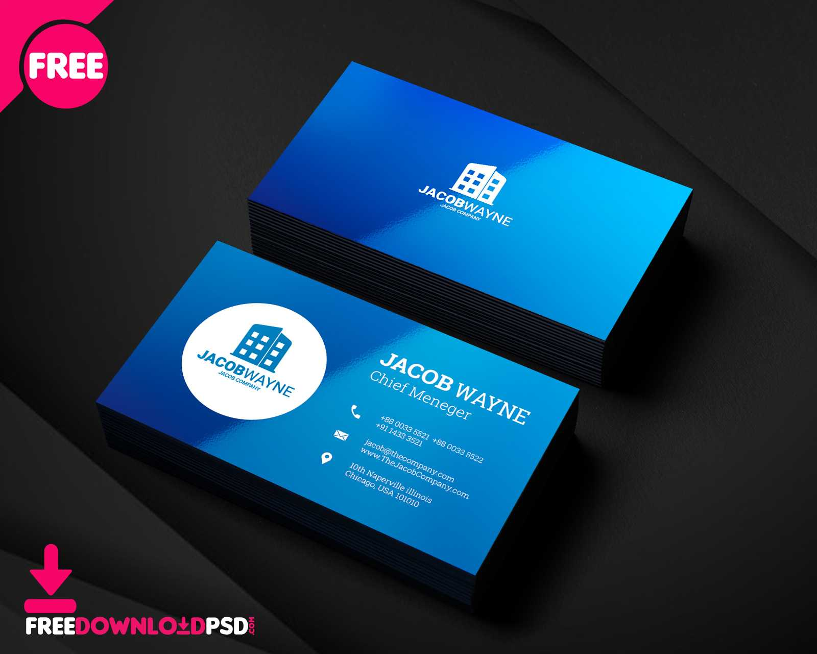 150+ Free Business Card Psd Templates For Free Business Card Templates In Psd Format