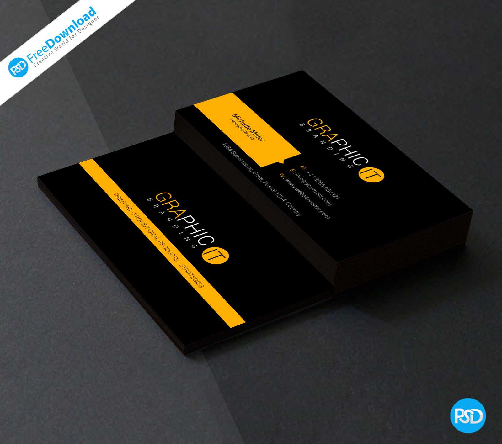 150+ Free Business Card Psd Templates Inside Free Psd Visiting Card Templates Download