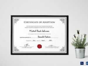 16+ Birth Certificate Templates | Smartcolorlib within Adoption Certificate Template