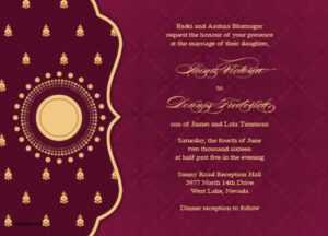 16 Customize Wedding Card Templates Free Download Indian For pertaining to Indian Wedding Cards Design Templates