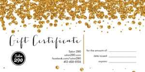 16+ Free Gift Certificate Templates & Examples – Word Excel inside Salon Gift Certificate Template