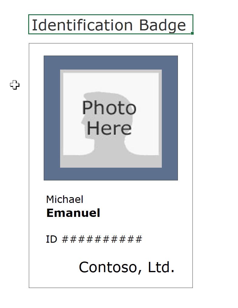 16 Id Badge & Id Card Templates {Free} - Template Archive With Regard To Free Id Card Template Word