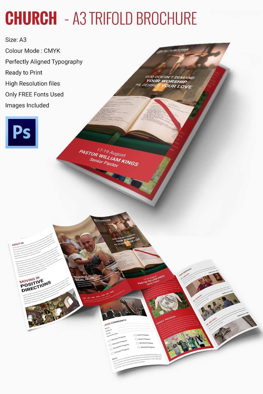 16+ Popular Church Brochure Templates - Ai,psd, Docs, Pages For Free Church Brochure Templates For Microsoft Word