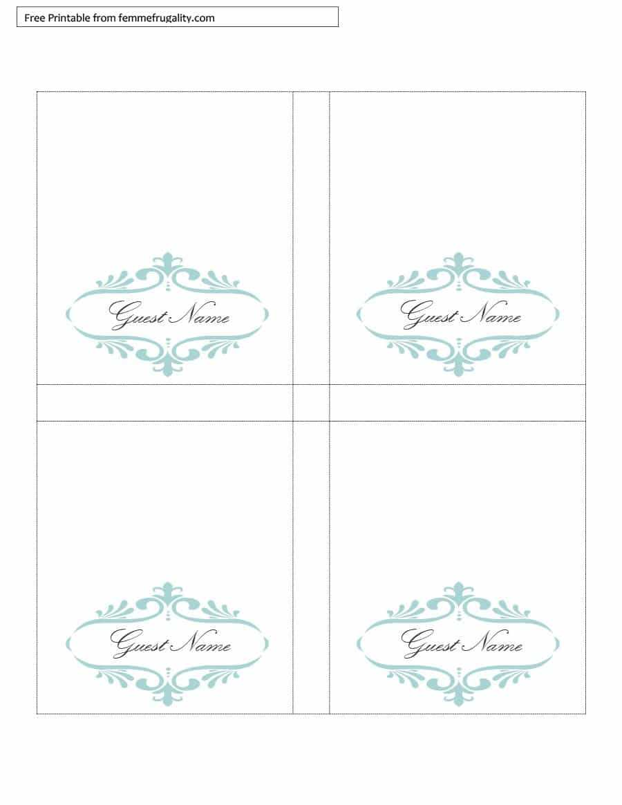 16 Printable Table Tent Templates And Cards ᐅ Templatelab With Free Printable Tent Card Template