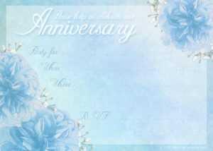 16 Wedding Anniversary Templates Free Images – Anniversary within Anniversary Certificate Template Free