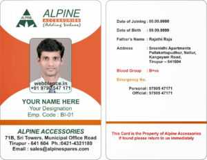 17 Id Badge Template Images – Id Badge Template Microsoft throughout Employee Card Template Word
