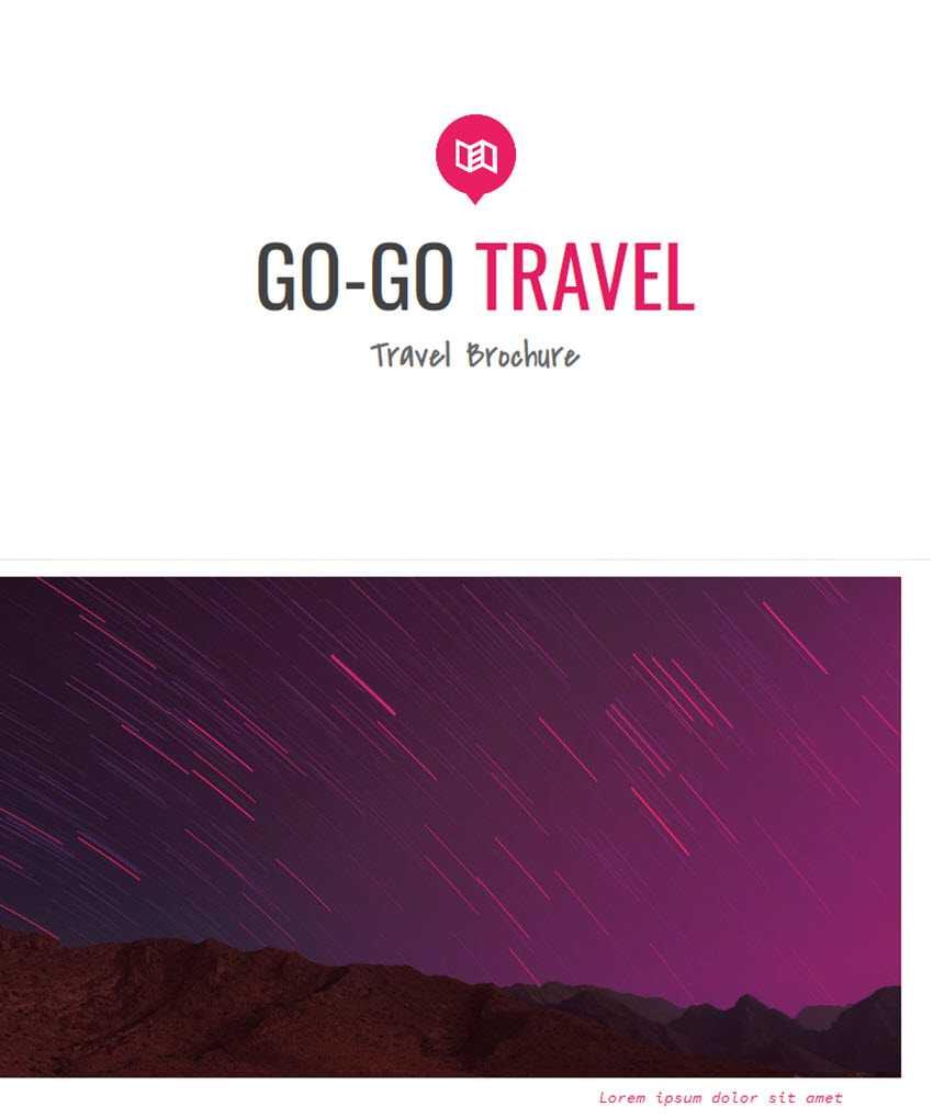 18 Best Free Brochure Templates For Google Docs & Ms Word With Google Docs Travel Brochure Template